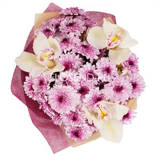 Букет из белых орхидей