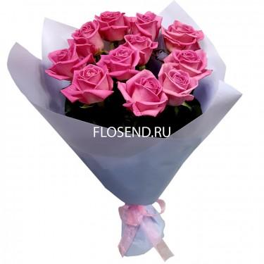 Букет из 11 розовых роз